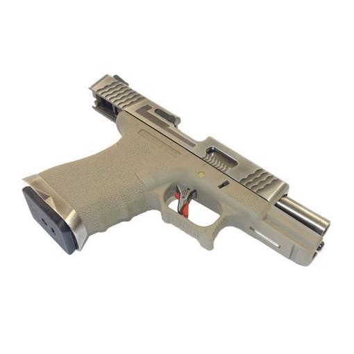 Pistolet S19 WE G-Force T8 Silver/Silver/Tan
