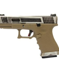 Pistolet S19 WE G-Force T8 Silver/Silver/Tan