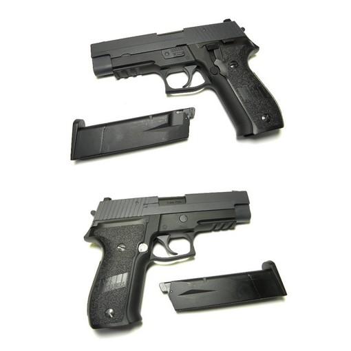 Pistolet WE F226 P226 avec Rail GBB Noir Gaz