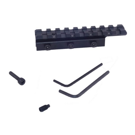 Rail adaptateur airsoft 11mm vers 21mm Dovetail to Picatinny 9 SLOTS